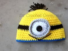 Crochet Minion Despicable Me Beanie by HandMadeByDz on Etsy, $20.00
