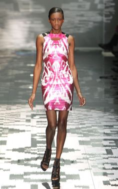 ikat dress by Gucci