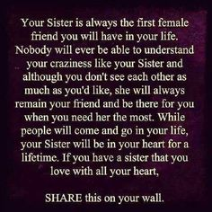 My Sister Best Friend And The Only Peraon With Which I Can Share Lots Of Secrets Not Parents