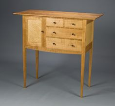 cherry and birdseye maple sideboard.