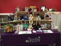 Scentsy Vendor Event Display. Crates from JoAnn Fabrics! https://whitneyharshman.scentsy.us