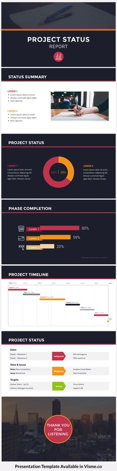Marketing plan presentation template available in Visme 0