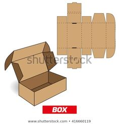 Find Cutting Rectangular Box stock images in HD and millions of other royalty-free stock photos, illustrations and vectors in the Shutterstock collection. Thousands of new, high-quality pictures added every day. Packaging Box, Paper Packaging, Packaging Design, Diy Gift Box, Diy Box, Diy Gifts, Diy Paper, Paper Crafts, Paper Box Template