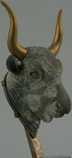 Minoan Bull's Head Rhyton, ca. 1450 B.C. from the Little Palace of Knossos, Crete