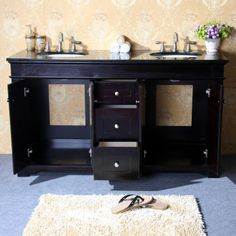 """60"""" Double Sink Vanity Vanity Base"""