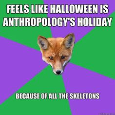 anthropology, halloween, skeletons - Anthropology Major Fox
