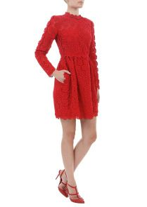 Valentino Red Lace Dress Valentino Dress, Red Lace, Designer Dresses, Lace Dress, My Style, Beauty, Fashion, Red Ribbon, Beleza