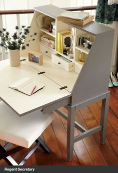 Regent Secretary at Crate and Barrel let's you create an organized workspace that virtually disappears when you close the front.