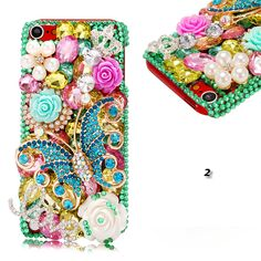 iPod Touch 5 - Jeweled Butterfly Splendor Cases in Assorted Colors - Thumbnail 2