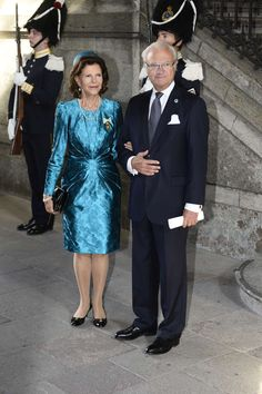 MYROYALS & HOLLYWOOD FASHİON: King Carl Gustaf 's 40th Jubilee Celebrations - Te Deum Thanksgiving Service-Queen Silvia and King Carl Gustaf