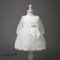 Izabel Dress (White) - Couture - Itty Bitty Toes