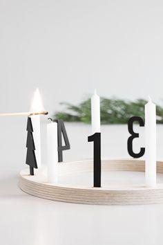 Adventskranz aus Holzring