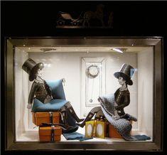 Hermès workshop window display by Kliment v Klimentov, Dubai