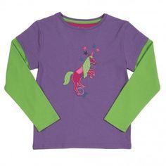Μπλούζα Με Μονόκερο Kite οργανικό βαμβάκι μωβ πράσινη μπλούζα για κάθε περίσταση κορίτσι παιδική ένδυση