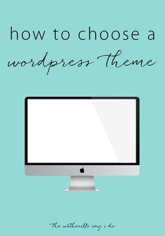 How to Choose a WordPress Theme | A Joyfully Mad Kitchen