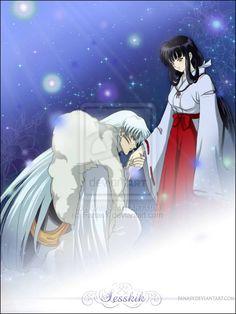 Sesshomaru and Kikyo Inuyasha