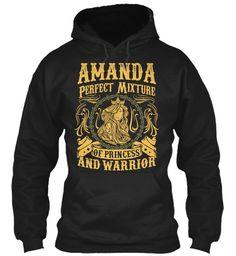 Amanda Pefect Mixture Of Princess Black Sweatshirt Front