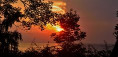 Sunset at Lake Metroparks Lake Erie Bluffs 7-31-15 - photo by greennite
