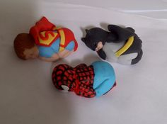 I'm in love!!!  Superhero baby cake toppers — 3D Figures
