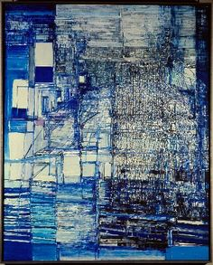 Gesehen in Hanau, Mai Maria Helena Vieira da Silva / The Theatre of Gérard Philipe / 1975 / oil on canvas Abstract Expressionism, Abstract Art, Gerard Philipe, Art Abstrait, Art Graphique, Contemporary Artists, Oeuvre D'art, Painting & Drawing, City Drawing