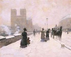 Notre Dame in the Snow Paris Christa Kieffer