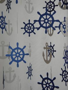 Nautical Baby Mobile Crib Mobile Nursery Decor by SaltCityWhimsy Nautical Baby, Shower Party, Photography Props, Cribs, Nursery Decor, Backdrops, Unique Jewelry, Handmade Gifts, Navy Blue