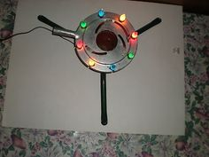 Antique Vintage Noma C 6 Lighted Metal Christmas Tree Stand 1930s Orig Box