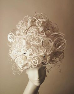 Paper Cut Project - Nikki Salk & Amy Flurry: Exquisitely custom crafted paper art. This Afro from Jeffrey Paper Wigs.