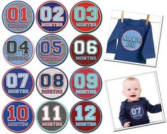 Sporty Shorty Baby Milestone stickers   Boutique Brands