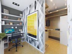 Luminoso apartamento blanco con oficinas ocultas
