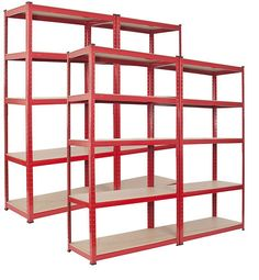 4 Bay Garage Shelving Unit Heavy Duty 5 Tier Shelf Steel Racking