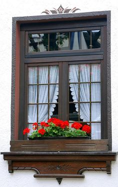 Window And Flower Box by Bachspics, via Flickr