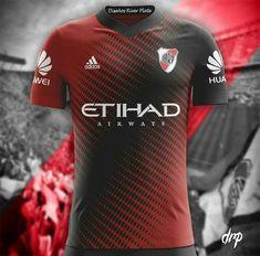 Team Shirts, Football Shirts, Camisa Do River Plate, Rugby Jersey Design, Sublime Shirt, Soccer Poster, Soccer Uniforms, Major League Soccer, Football Design