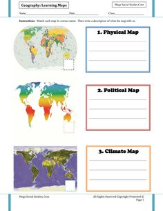 Learning Maps for Kids – Political Map, Physical Map, Climate Map