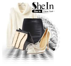 """Black PU Skirt - Shein.com Contest"" by teez-biz-nez ❤ liked on Polyvore featuring Artistique, Chanel and Kate Spade"