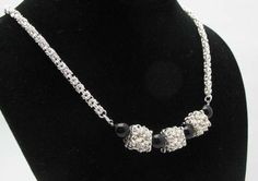 Byzantine Cubed Necklace by Chainmaille By MBOI #Jewelry trendhunter.com