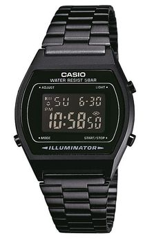 Casio Classic B640WB-1BEF - Sort retro digitalur