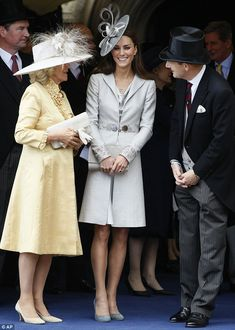 Duchess and Duchess: Camilla, left, and Catherine attend the Garter Day ceremony at Windsor Castle