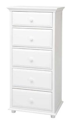 Big 5 Drawer Dresser by Maxtrix Kids (shown in white) 2 Drawer Dresser, Built In Dresser, Drawers, Princess Castle Bed, Kids Dressers, Cool Bunk Beds, Big 5, Kids Storage, Kids Shows
