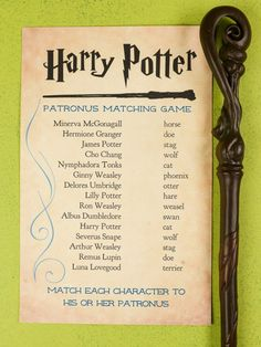 Party Stuff 791718809471588110 - Think you know the patronal forms of each character in Harry Potter? Print out this Harry Potter patronus matching game and put your skills to the test! A magical game for any Harry Potter party. Source by radissonava Harry Potter Navidad, Cumpleaños Harry Potter, Harry Potter Cosplay, Harry Potter Wedding, Harry Potter Christmas, Harry Potter Pictures, Harry Potter Birthday, Harry Potter Halloween, Harry Potter Characters