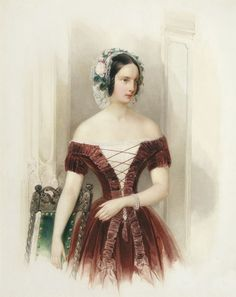 ab. 1840. Hau - Grand Duchess Alexandra Nikolaevna of Russia, Princess of Hesse-Kassel