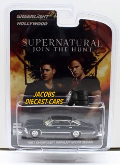 :64 GREENLIGHT HOLLYWOOD SUPERNATURAL - 1967 CHEVROLET IMPALA SPORT SEDAN #Greenlight #Chevrolet