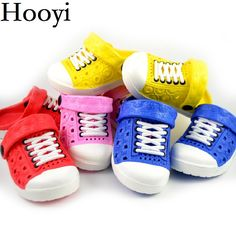 29b97f5a62c73 Awesome Hooyi Baby Boy Shoes Summer Cool Children Hollow Girls Moccasins  Fashion Slippers Kids Clogs Hot