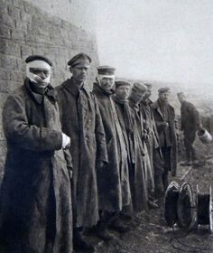 World War I. German wounded soldiers during the 1916 Second Battle of Verdun offensive.