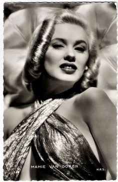 A sultry, gorgeous photo of actress Mamie van Doren  1940's