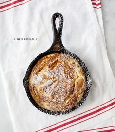 Apple Pancake - Apples, brown sugar, and cinnamon make up this custardy German-style apple pancake from my childhood.