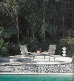 Strick House, Santa Monica, Los Angeles, California, United States of America - Oscar Niemeyer Oscar Niemeyer, Garden Furniture, Outdoor Furniture Sets, Outdoor Decor, Santa Monica, Decks, Garden Features, Outdoor Areas, Pool Houses