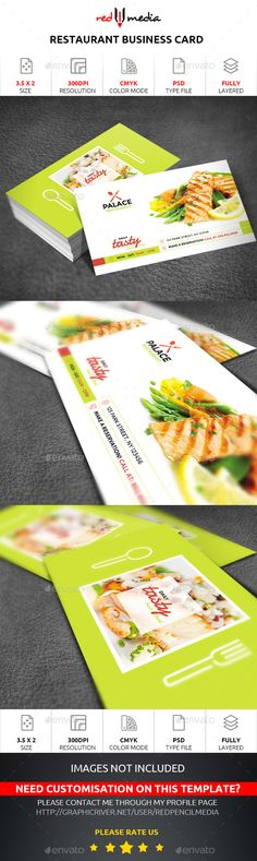 Restaurant Business Card - Business Cards Print Templates Download here : https://graphicriver.net/item/restaurant-business-card/19301740?s_rank=187&ref=Al-fatih