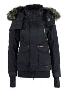 8a5bf5616bf6f khujo ULRIKA - Winter jacket - navy - Zalando.co.uk