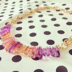 quartz gold chain necklace